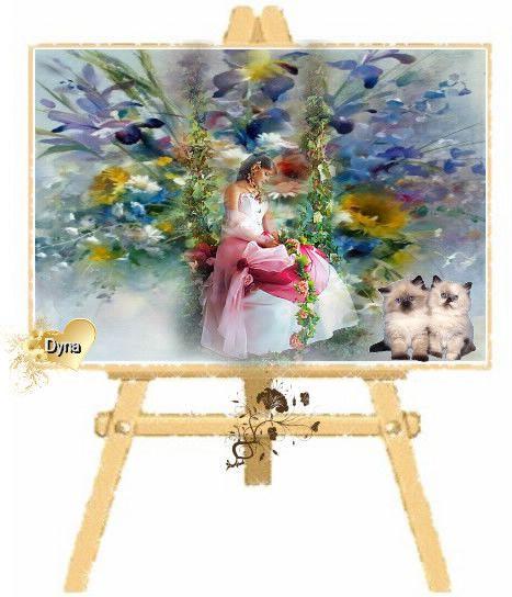 Peinture fraiche sur chevalet for Chevalet peinture